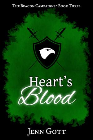 """Cover for """"Heart's Blood"""" by Jenn Gott"""