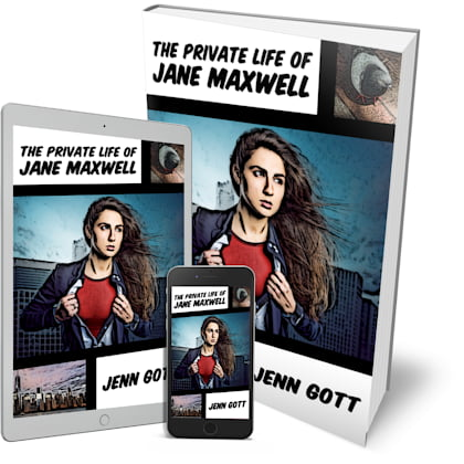 """Cover for """"The Private Life of Jane Maxwell"""" by Jenn Gott"""