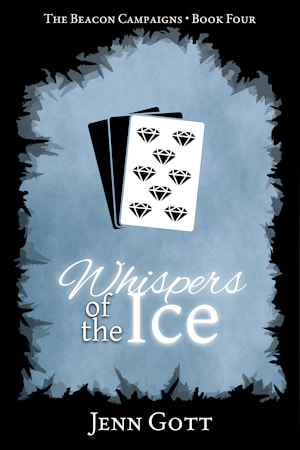 """Cover for """"Whispers of the Ice"""" by Jenn Gott"""