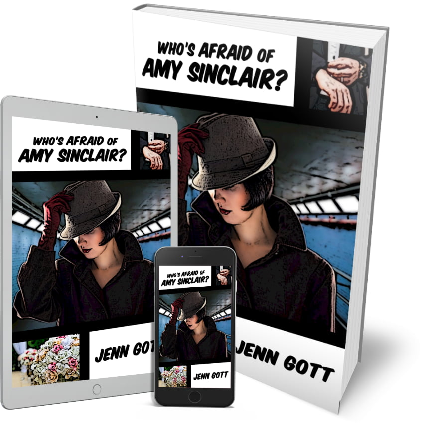 """Cover for """"Who's Afraid of Amy Sinclair?"""" by Jenn Gott"""